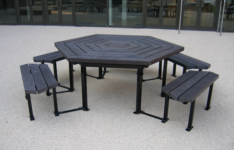 Sweepwise recycled plastic street furniture outdoor for Low maintenance outdoor furniture